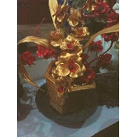 Vas Bunga Merah Gold (Jan.17.85.T)