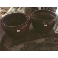 Jual Kerajinan Tanah Liat Pot Coklat Besar (Feb.17.54.N)