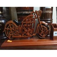 Jual Kerajinan Kayu Kaligrafi Sepeda Motor