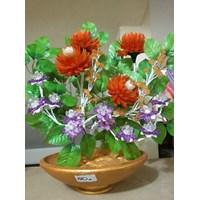 Jual Vas Bunga Anggrek Kuning