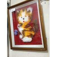 Jual Lukisan 3D Kucing Kaca
