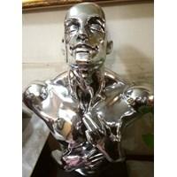 Patung Orang Silver Patung Tembaga