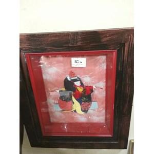 jual frame lukisan pemandangan jepang harga murah bekasi