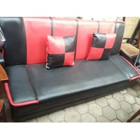 Sofa Bed Merah Hitam