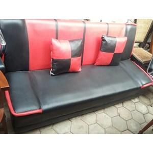 Jual Sofa Bed Merah Hitam Harga Murah Bekasi Oleh Garage Sale Kemang
