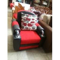 Jual Sofa Merah Hitam Harga Murah Bekasi Oleh Garage Sale Kemang