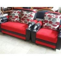 Jual Sofa Merah Hitam