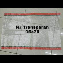 Karung plastik Transparan 45 x 75 cm