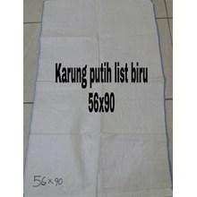 Karung Plastik putih 56x90 lis biru