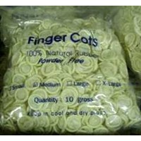 Powder Free White Finger Cots/Alat Safety Lainnya