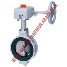 KITZ KITAZAWA XJME BUTTERFLY VALVE WAFER GEAR OPERATE.