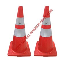 TEXAS TRAFFIC CONE RUBBER BASE ORANGE KERUCUT PEMBATAS JALANAN BAHAN KARET