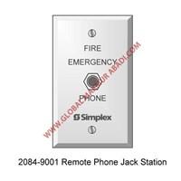 TYCO SIMPLEX 2084-9001 PHONE JACK STATION 1