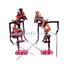 A Set Of Wooden Puppet Miniature (Rama And Shinta)