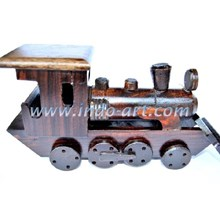 Miniature Of Wooden Train Locomotive