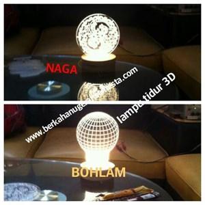 lampu tidur 3D. 3watt