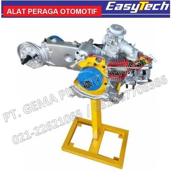 Trainer Sepeda Motor Matic 4Tak Sectional Mesin Carburator (Alat Peraga Pendidikan)