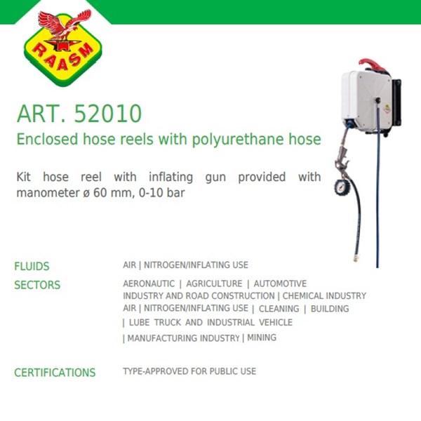 Raasm Hose Reel art no.52010 Enclosed Hose Reel Polyurethane (Selang Gulung) Untuk Udara dan Nitrogen