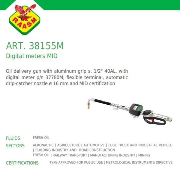 Raasm Grease Gun dengn flow meter art no.38155M