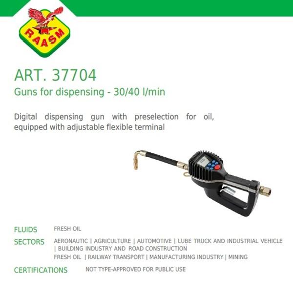 Raasm art no.37704 Grease Gun dengan Flow Meter digital