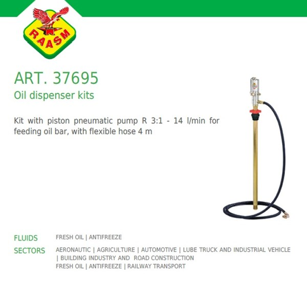 Raasm art no.37695 Oil Dispensing Kits (Dispenser Oli Raasm)