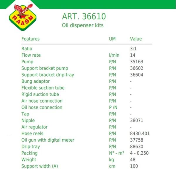 Dispenser Oli Raasm art no.36610 Oil Dispensing Kits