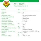 Pompa Oli Pneumatic Raasm art no.36096 2