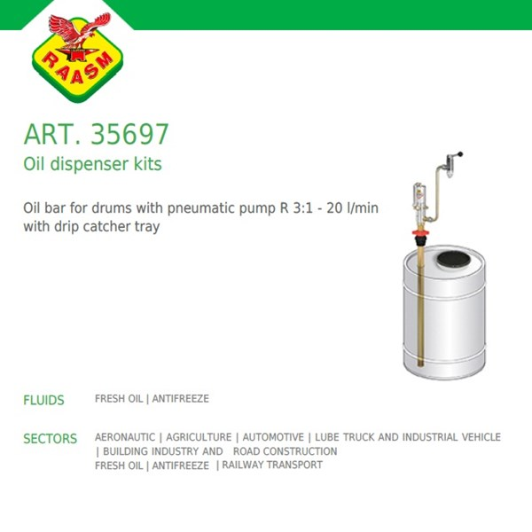 Raasm art no.35697 Oil Dispencer Kits (Dispenser Oli Raasm)