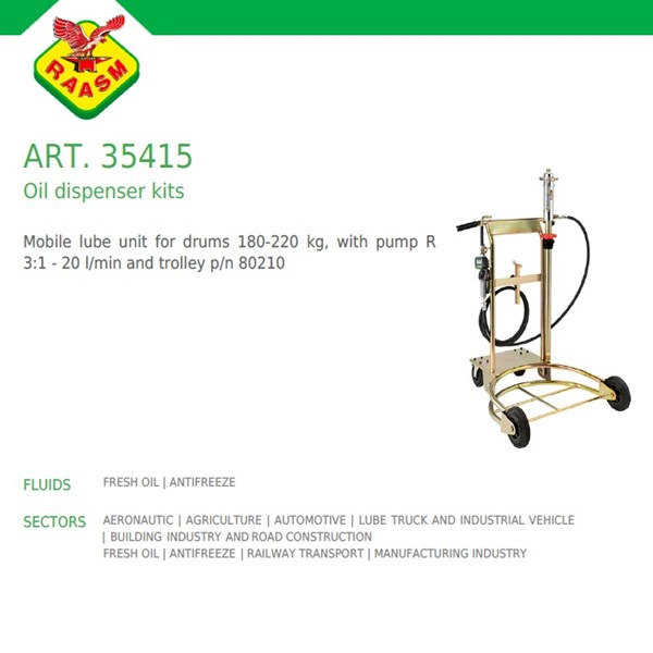 Oil Dispenser Kits Raasm art no.35415 (Dispenser Oli Raasm)