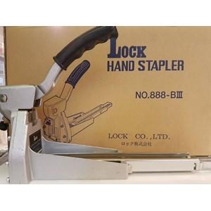 Lock hand stapler
