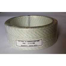 Kabel Thermocouple Type K Fiberglass KBB Size : 2 x 0.3mm