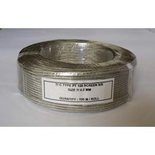 Kabel Thermocouple PT100 Screen SS Size : 7/0.2mm