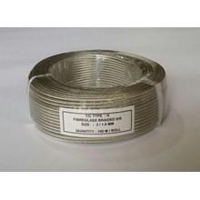 Kabel Thermocouple Type K Fiberglass Braided S/S Size : 2/1.0MM