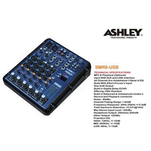 Mixer Ashley Smr 6 Usb