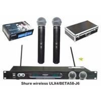 Mic Shure Ulx4 Beta58 Wireless Isi 2 1