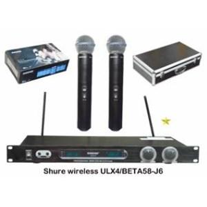 Mic Shure Ulx4 Beta58 Wireless Isi 2