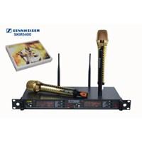 Jual Mikrofon Mic Wireless Senheiser Skm 5400 Isi 2 Hand Gold Mic