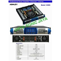 Jual power amplifier ashley 4 ch v4800