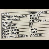 Distributor speaker subwoofer 18 inch PD1880 model precision devices 3