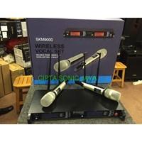 mikrofon 4 antena mic sennheiser skm 9000 wireless isi 2 hand mic