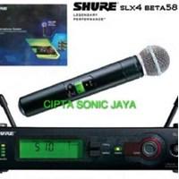 Jual mikrofon mic shure slx 4 beta 58 dus biru