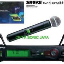 mikrofon mic shure slx 4 beta 58 dus biru