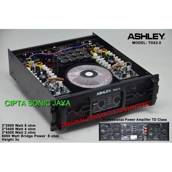 power Amplifier tdx1.8 ashley tdx 1.8