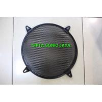 grill speaker 15 inch besi motif wajik