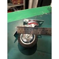 Jual Roda Troli hardcase fligtcase Roda Karet Hardcase 3 Inch - 2 Hidup Rem Dan 2 Mati
