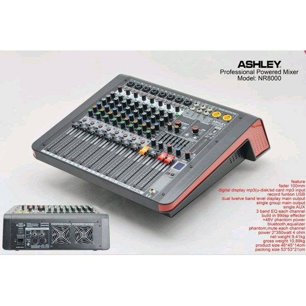 mixer Amplifier ashley NR3000 . NR 3000
