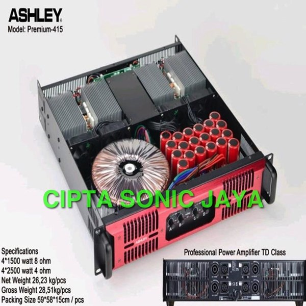 jual power amplifier ashley premium 415 premium415. Black Bedroom Furniture Sets. Home Design Ideas