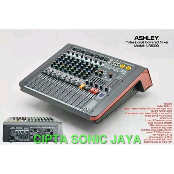 Power Mixer Ashley Nr8000 ORIGINAL Ashley Nr 8000 garansi resmi NR8000