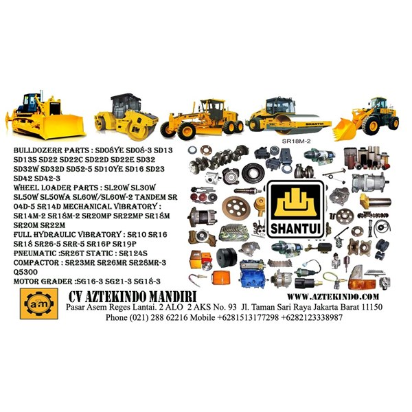 Jual SHANTUI HEAVY EQUIPMENT PARTS Excavators
