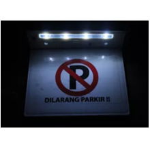 Lampu Rambu Dilarang Parkir 4 LED